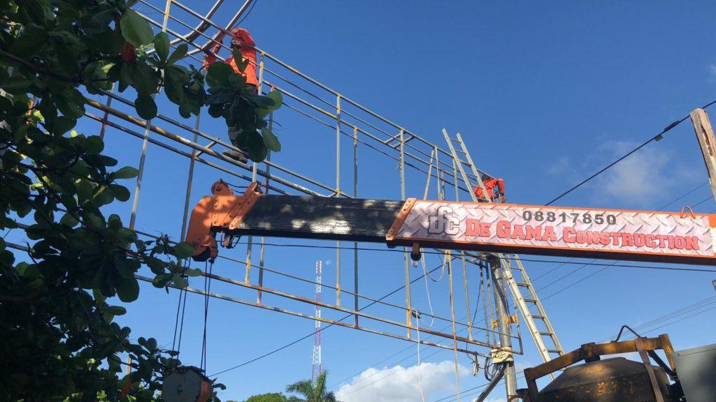 Billboard Constructiebedrijf in Suriname