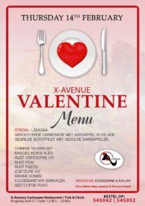 X-Avenue Valentijns Menu Suriname