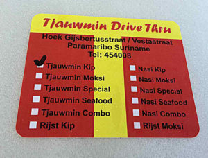 Tjauwmin Restaurant in Suriname